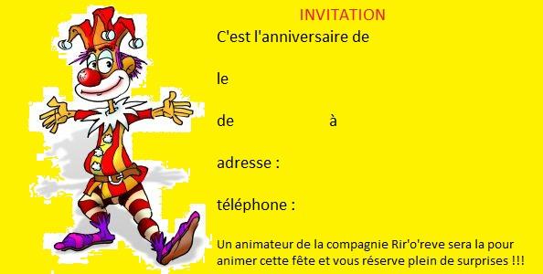 Cartes D Invitation Gratuites A Telecharger Animation Anniversaire